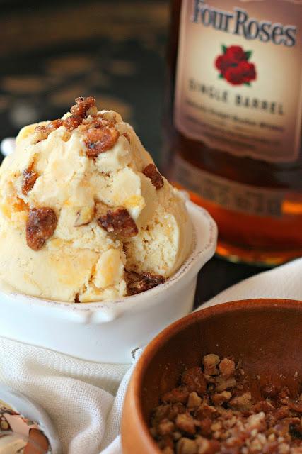 peach ice cream bourbon brown butter