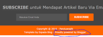 Menghilangkan Tulisan Powered by Blogger