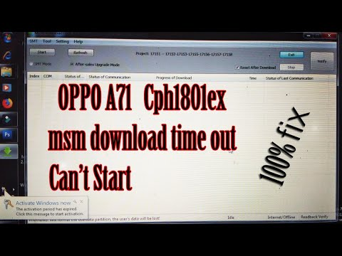 By Photo Congress || Oppo A71 2018 Msm Download Tool error