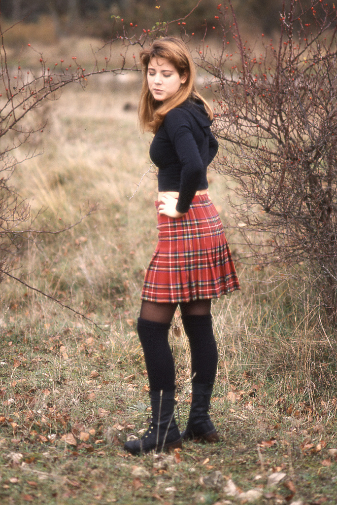 fashion tights skirt dress heels  plaid skirtsexy plaid