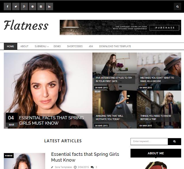 Flatness Magazine Blogger Template