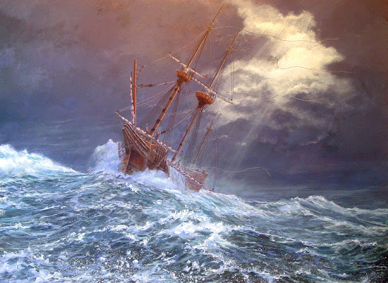 Painting of Mayflower