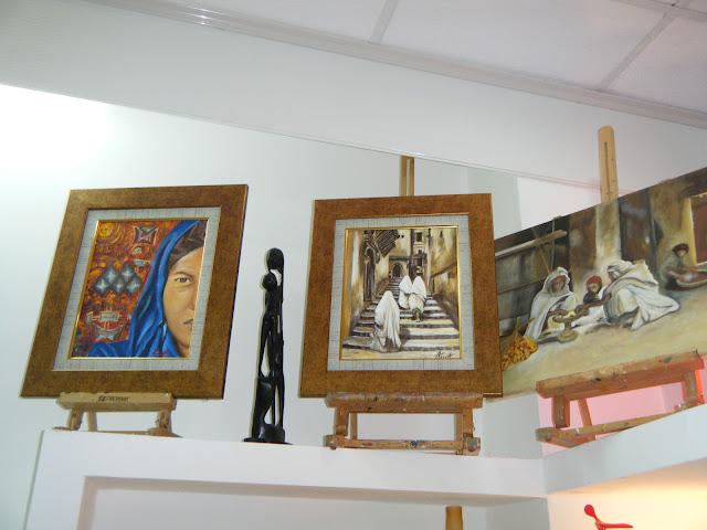 Les peintures de mes élèves à l'expo 28