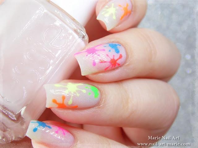 Nail Art Tâches Fluo Holographiques2