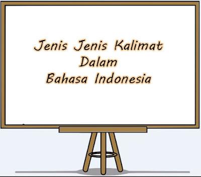 Jenis Jenis Kalimat Dalam Bahasa Indonesia Beserta Contohnya
