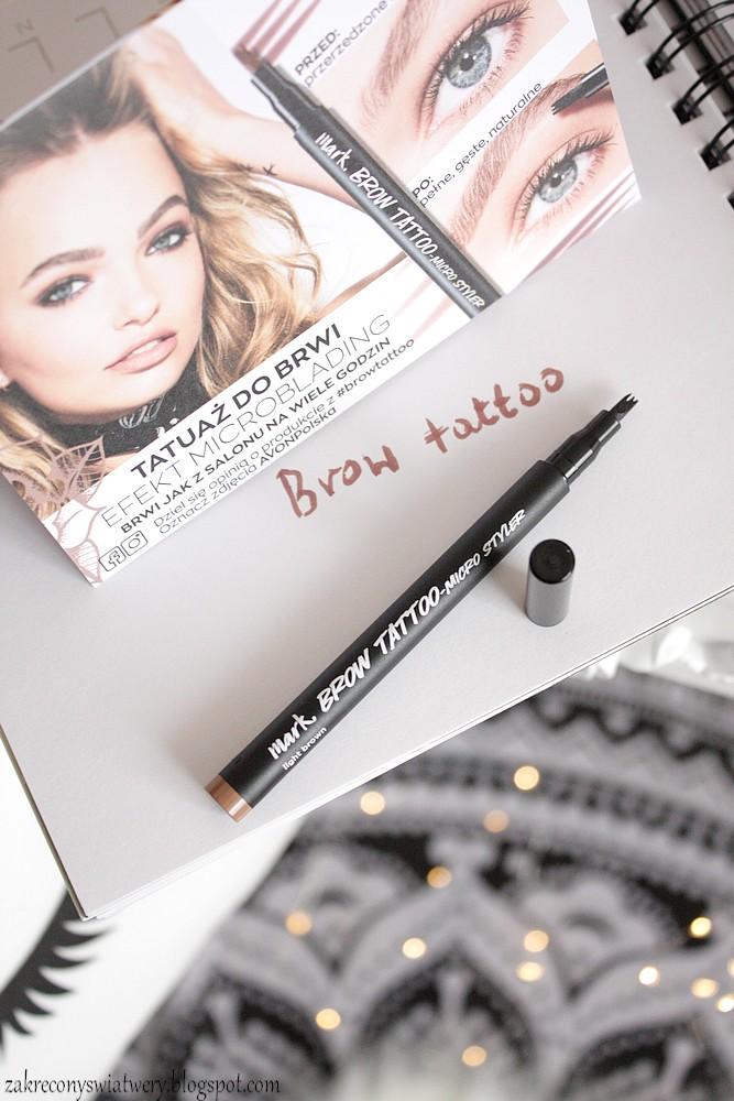 Avon Mark Lip Art 2in1 Lip Tattoo Tatuaż Do Ust I Brwi