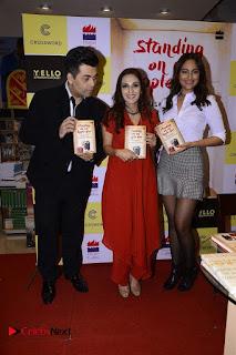 Sonakshi Sinha Karan Johar at Aishwarya Rajinikanth Standing on an Apple Box Book Launch Event  0032.jpg
