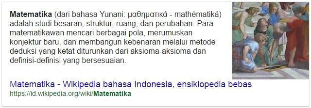 apa itu matematika ?