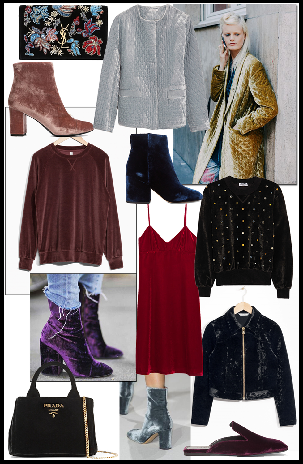 wishlist, trends, shopping, velvet, fashion, blogger, winter, 2016, velours, jil sander, prada, Sonia Rykiel, &Other stories, saint laurent, Morobe