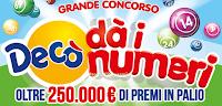 Logo ''Grande concorso Decò dà i numeri'': vinci 24.000 buoni spesa, 35.050 prodotti e 42 Smartphone