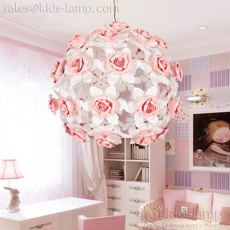 Ornate Kids Lamps: ceramic flower pendant lamps. Girl's ...