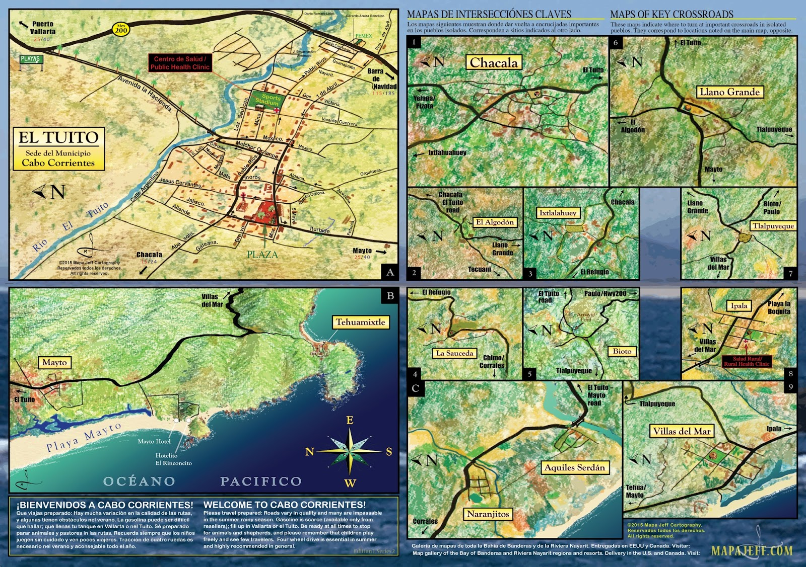 Mapa Jeff Cartography Cabo Corrientes Road Map