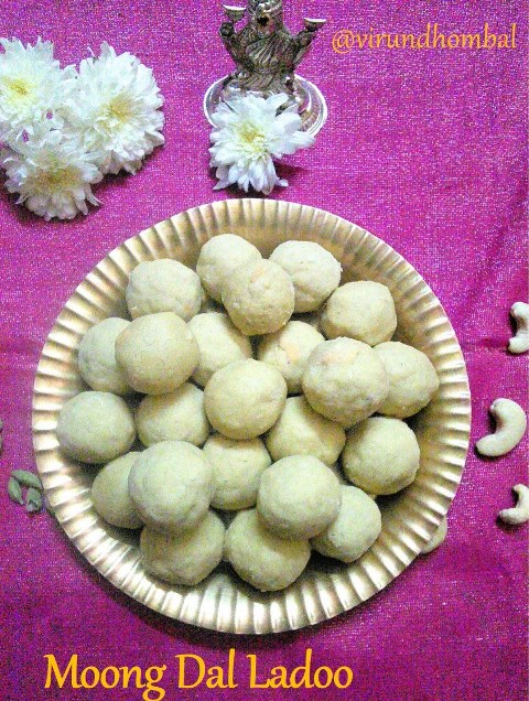 Moong dal flour Ladoo | Pasiparuppu maavu Urundai | Nei Vilanga recipe| How to prepare Moong dal flour Ladoo | Pasiparuppu maavu Urundai | Nei Vilanga with step by step instructions | Sweet recipes | Easy Sweet for Diwali - Moong dal flour ladoo is made with just four ingredients. In Tirunelveli, We call this ladoo as Nei Urundai or Nei Vilanga. This ladoo is super easy to make and it is very good. To make this ladoo within 15 minutes I suggest to grind the flour when you have free time in your kitchen. This method can save your time and you can easily prepare this ladoo in minutes. You have to melt the ghee right after you mix the moong dal flour and the powdered sugar. You'll want to keep everything ready before melting the ghee. I prefer homemade ghee for this ladoo because I find it was flavorful and tasty.