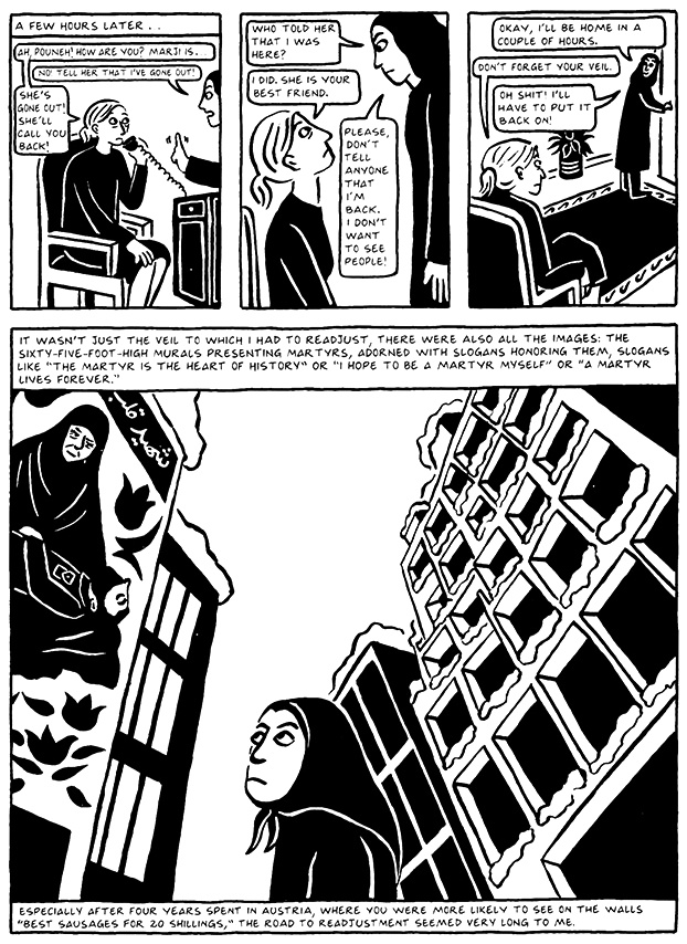 Read Chapter 10 - The Return, page 96, from Marjane Satrapi's Persepolis 2 - The Story of a Return