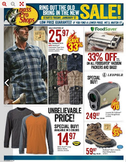Bass Pro Shops current flyer January 12 - 18, 2018