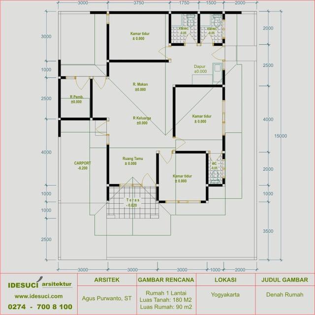 gambar denah rumah minimalis type 90 2