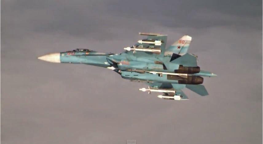 Lagi, Manuver 'Roll Barel' SU-27 Saat Mencegat RC-135