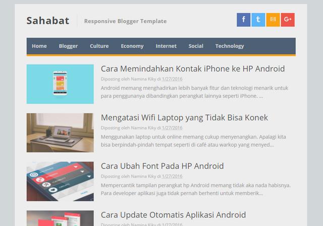 Sahabat AMP Responsive Blogger Templates