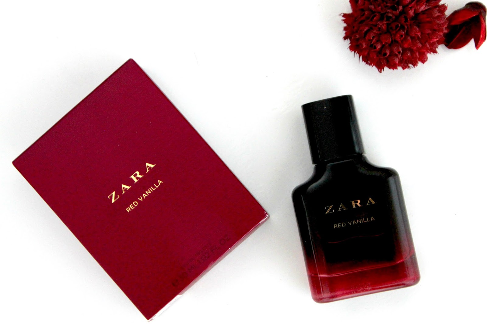 Zara Red Vanilla Eau de Toilette Perfume Fragrance Blog Review