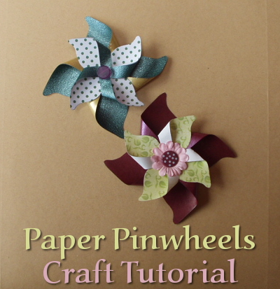 How To Make Paper Pinwheels For Cards