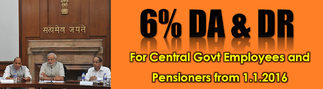 Release of additional instalment of DA to Central Government employees and DR to Pensioners due from 1.1.2016