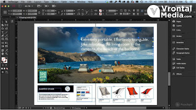 Tampilan Adobe Indesign - macam macam software desain grafis