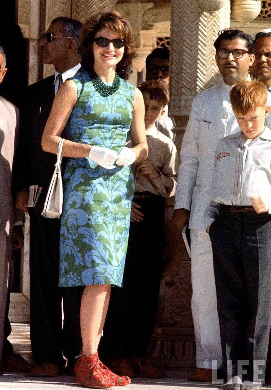 Jackie Kennedy Dresses: US First Lady Jackie Kennedy During Her Goodwill Tour Of