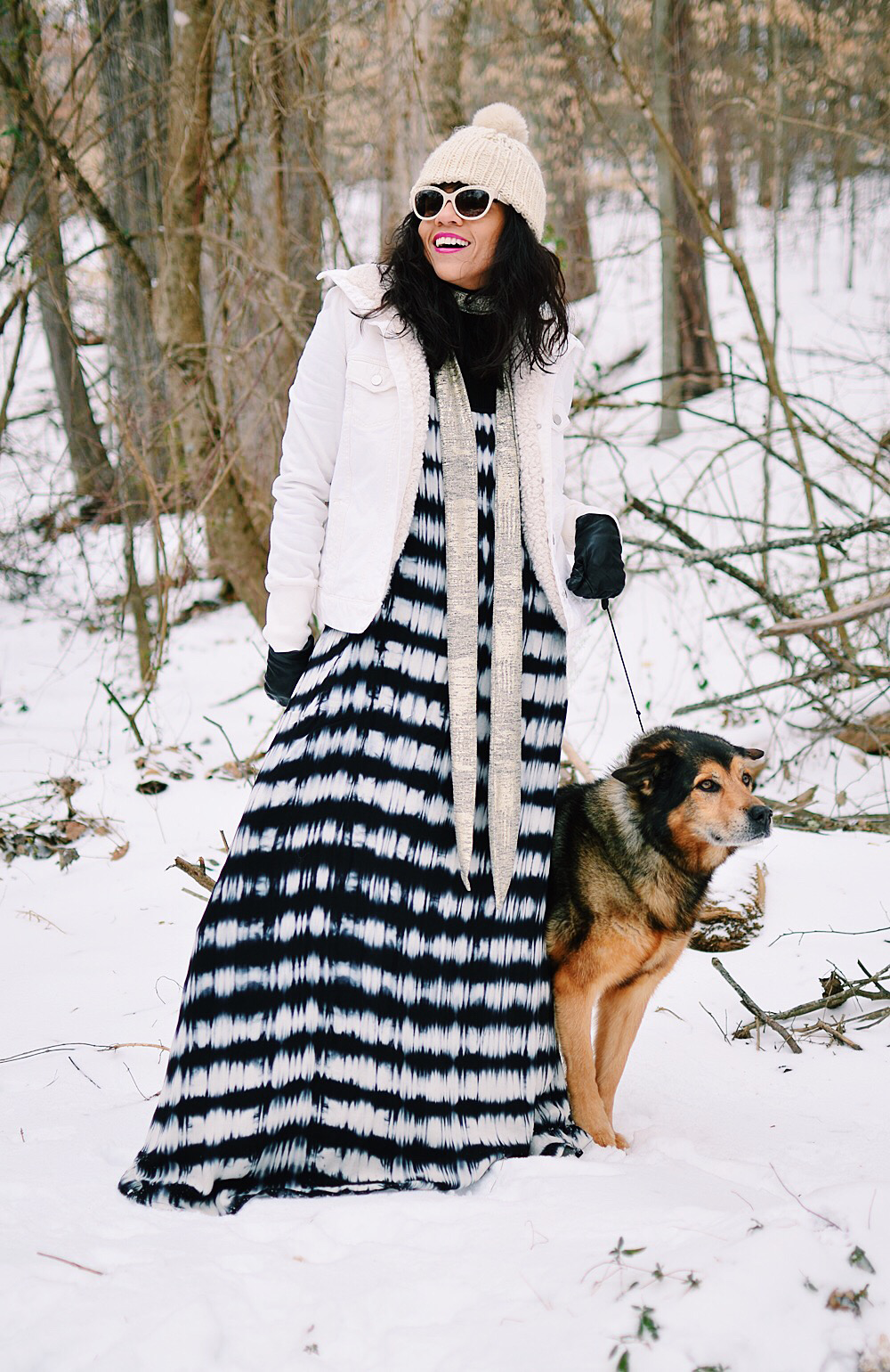 Maxi Dress In The Snow