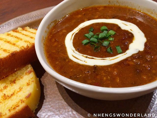 Bluesmith Coffee & Kitchen - Chili Soup with Homemade Cornbread