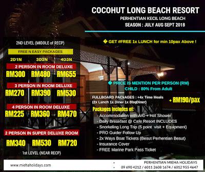 Pakej Pulau Perhentian Kecil : Cocohut Long Beach Resort