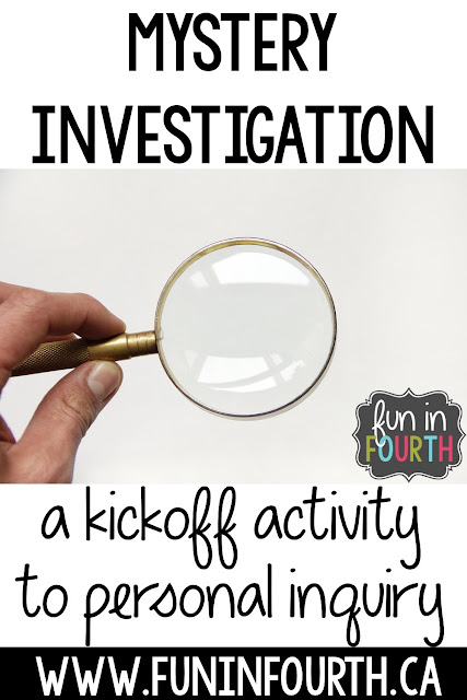 A kickoff activity to personal inquiry