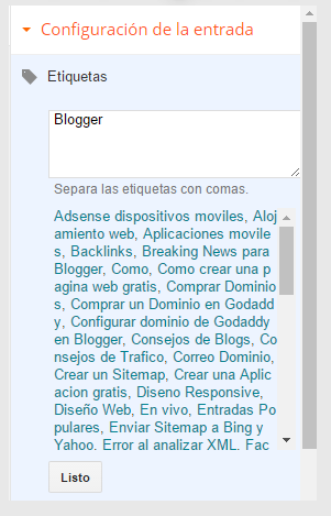 Que es una Etiqueta en Blogger