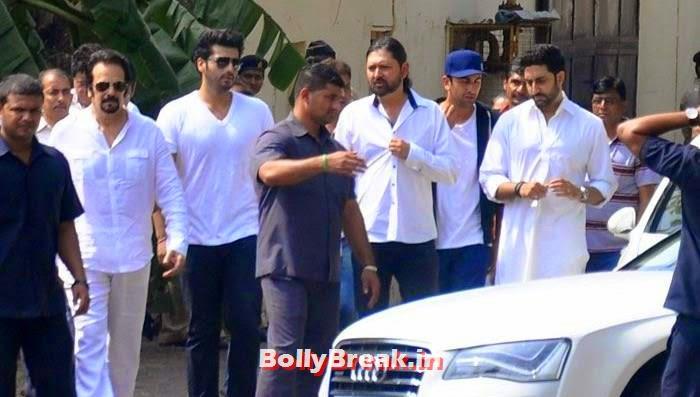 Arjun Kapoor, Ranbir Kapoor, Abhishek Bachchan, Celebs Visit Ravi Chopra's Funeral