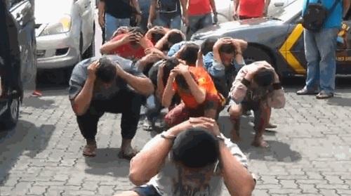 Para pelaku geng motor yang meresahkan warga Semarang (youtube).