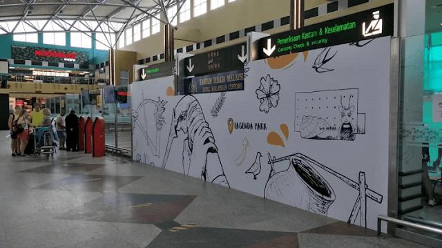 Mural Lapangan Terbang Antarabangsa Langkawi, Malaysia Airports,