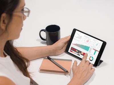 KnowledgeSmart Microsoft PowerBI Dashboard Focusing on Collaboration