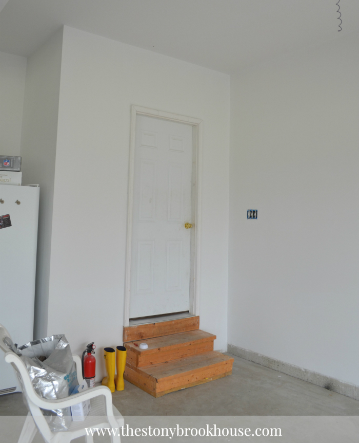 Primed Back door area