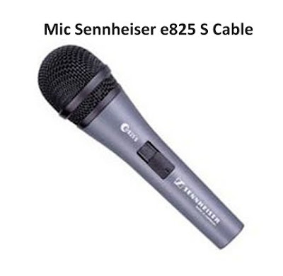 Sennheiser e825S Handheld Cardioid Microphone Cable Asli