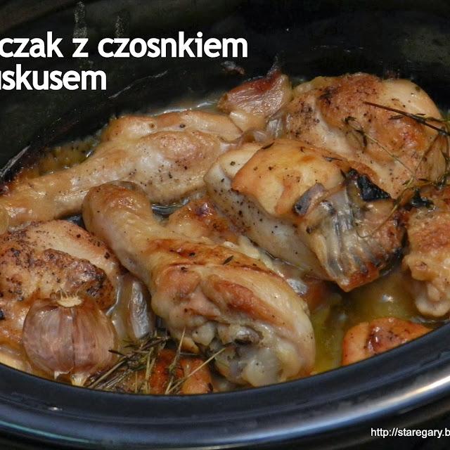 Kurczak z czosnkiem i kuskusem
