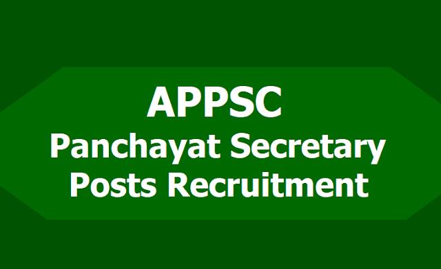 APPSC Panchayat Secretary Posts