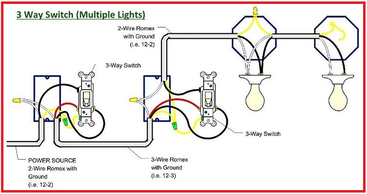 3 way switch wiring diagram residential