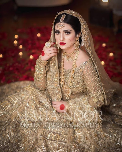 Actress Sarah Khan Latest Beautiful Bridal Photo Shoot