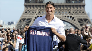 Ibrahimovic Joined the Paris Saint-German in july 2012