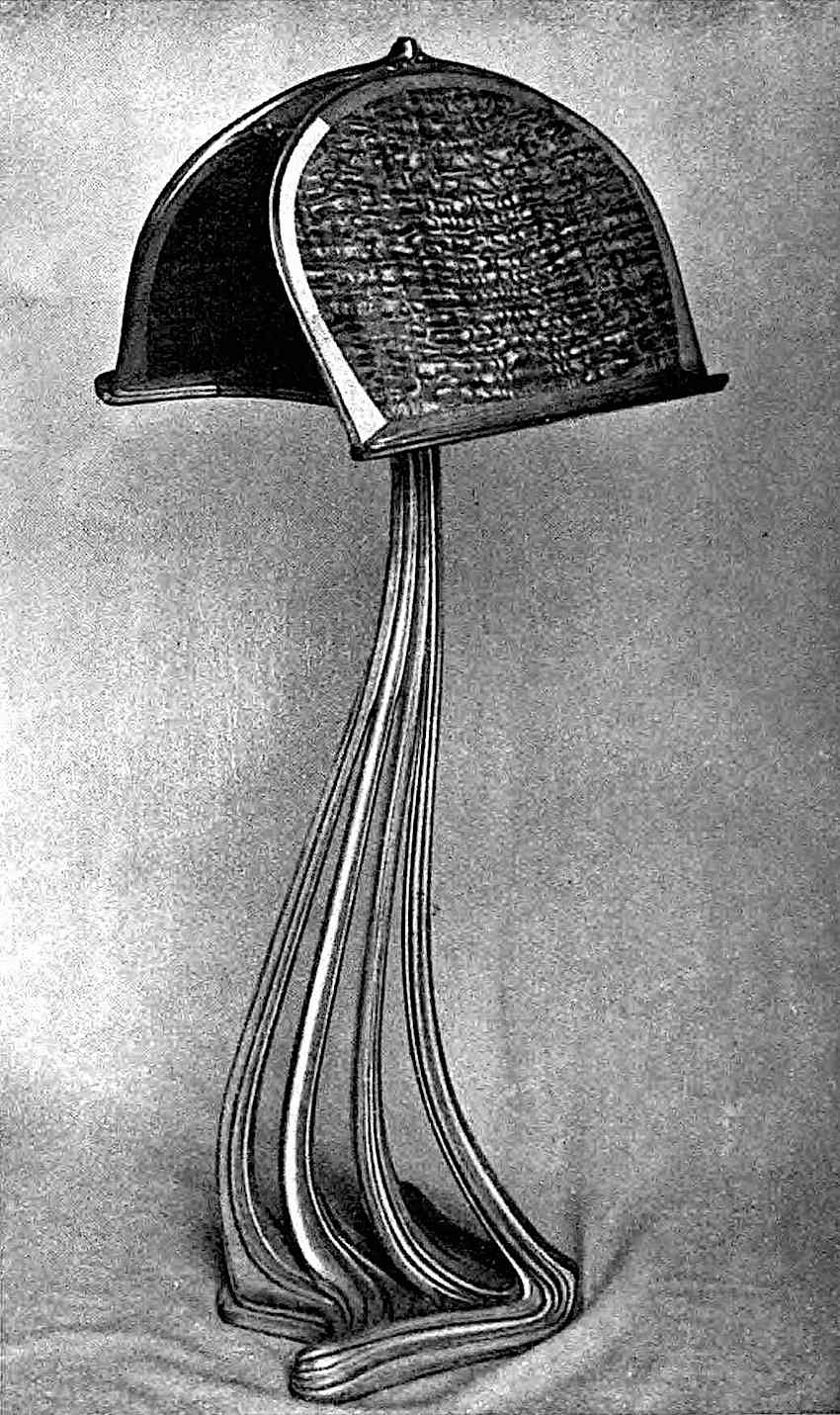 a photograph of an 1851 metal and wood music stand