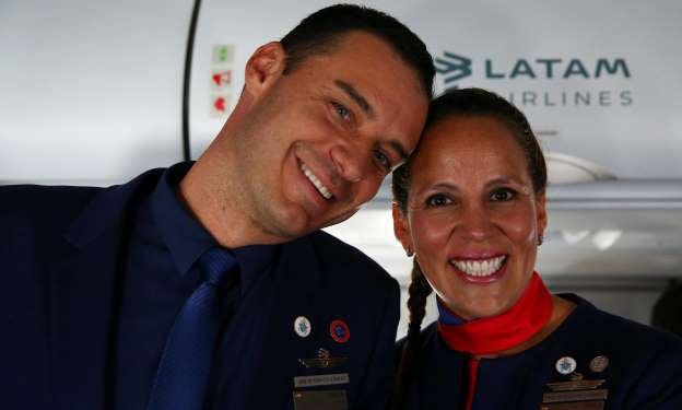 Wing and a prayer: pope marries couple on plane over Chile