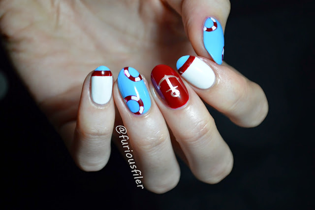 nautical nails marine sailor nail art