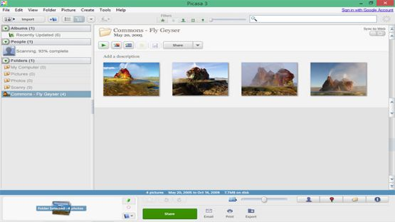 Picasa 3.9 Build 141.259 Screenshot 1