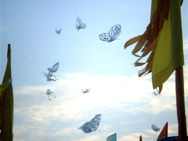 butterflies at camp bestival
