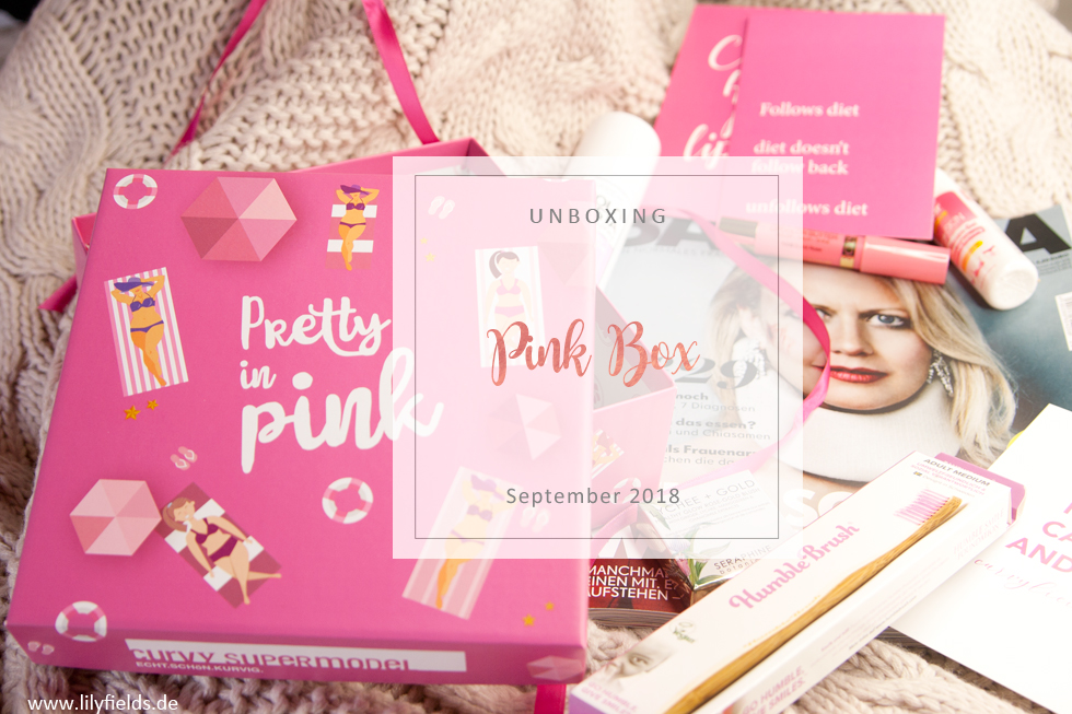 Pink Box - Pretty in Pink / September 2018 - unboxing