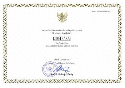 Warisan Budaya Tak Benda Riau 2019 Dikei Sakai